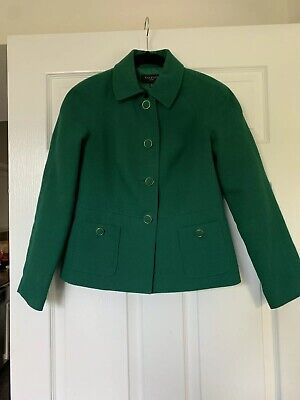 Talbots Green 4P Womens Jacket Gold Toned Buttons