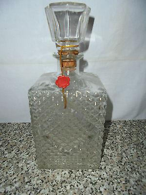Karaffe Flasche geschliffen Glas