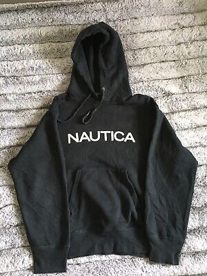 Nautica Spell Out Hoody Navy Large