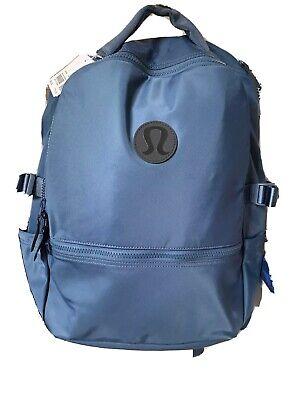 Lululemon O/S New Crew Backpack Ink Blue INBU 22L