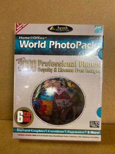 PC CD-ROM - (NIB Sealed) Home Office - World Photo Pack - 6 CD