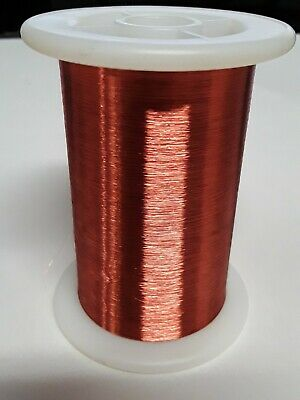 Copper Magnetic Wire Spool AWG 47 Single Poly Insulation USA Made 5oz approx wgt Copper Wire Insulation