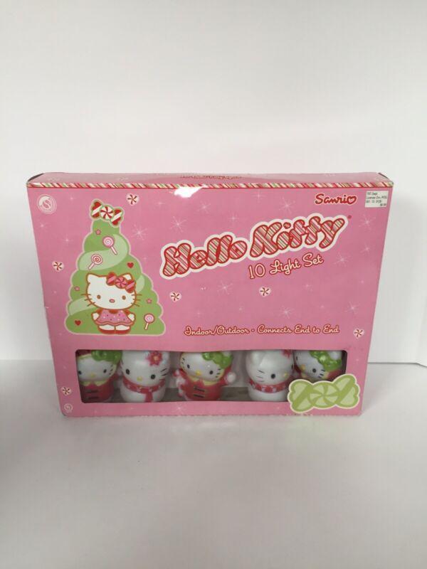 New Sanrio Hello Kitty String Lights 7.5 ft Christmas Tree 2013 Indoor/Outdoor