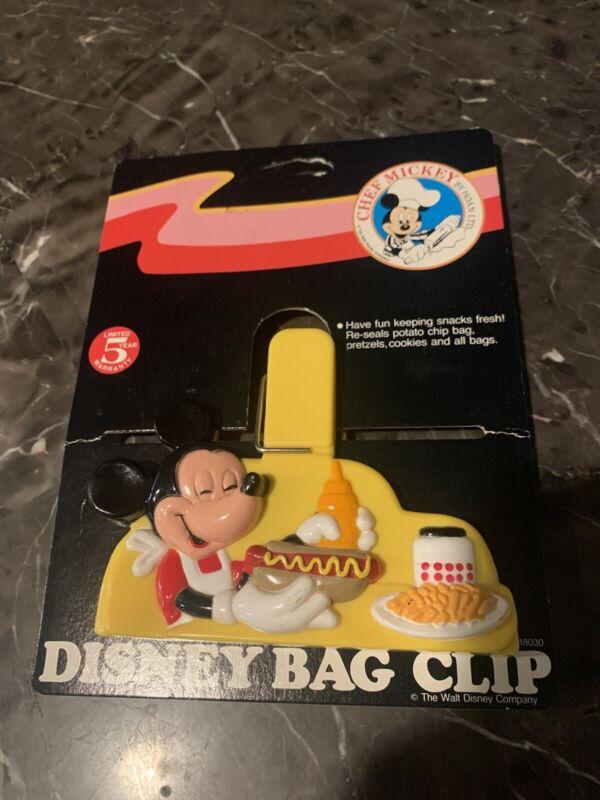 New Hoan Ltd Walt Disney Vintage Mickey Mouse Bag Chip Clip Picnic Magnet