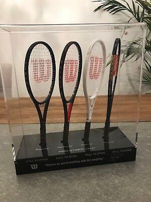 Roger Federer Limited Edition Autographed Mini Tennis Racket Set 130 of 150 Rare