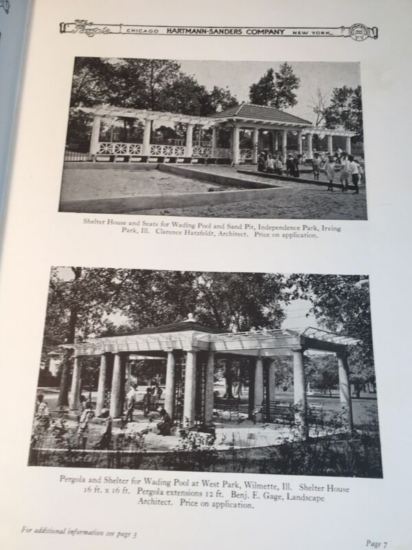 1927 HARTMANN SANDERS ARCHITECTURAL GARDEN HOUSE CATALOG Sundial Pergola Fountai