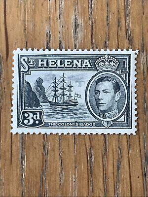 St. Helena 1938-44 SG135, 3d Ultramarine KGVI Definitive MH VF