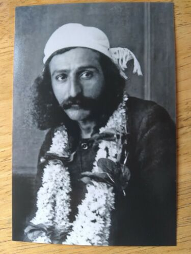 "PHOTO MEHER BABA GURU AVATAR INDIA BLACK & WHITE 4"" x 6"" DON"