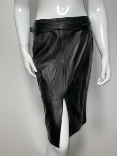 NWT$2500 VERSACE JEANS Leather Skirt size 28/42