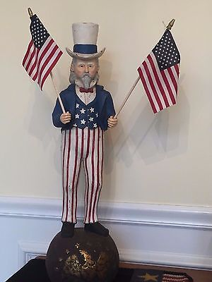 Bethany Lowe UNCLE SAM Distressed Patriotic Americana NEW