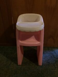 Little Tikes Plastic Doll Highchair