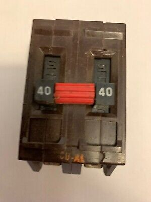 Wadsworth 40 Amp Double Pole 2p 40a Breaker Metal Feet Tested