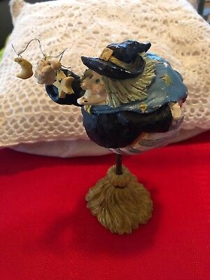 Witch On Broom (HALLOWEEN FULL FIGURED WITCH ON BROOM! SUPER CUTE)