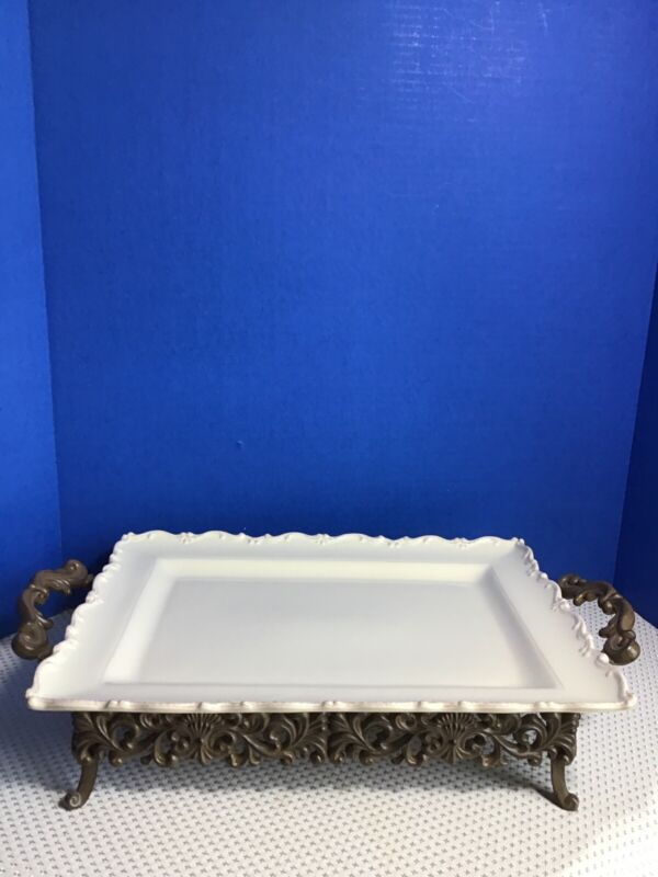 Chris Madden for JC Penney - Foret Corvella Rectangular Tray with Stand