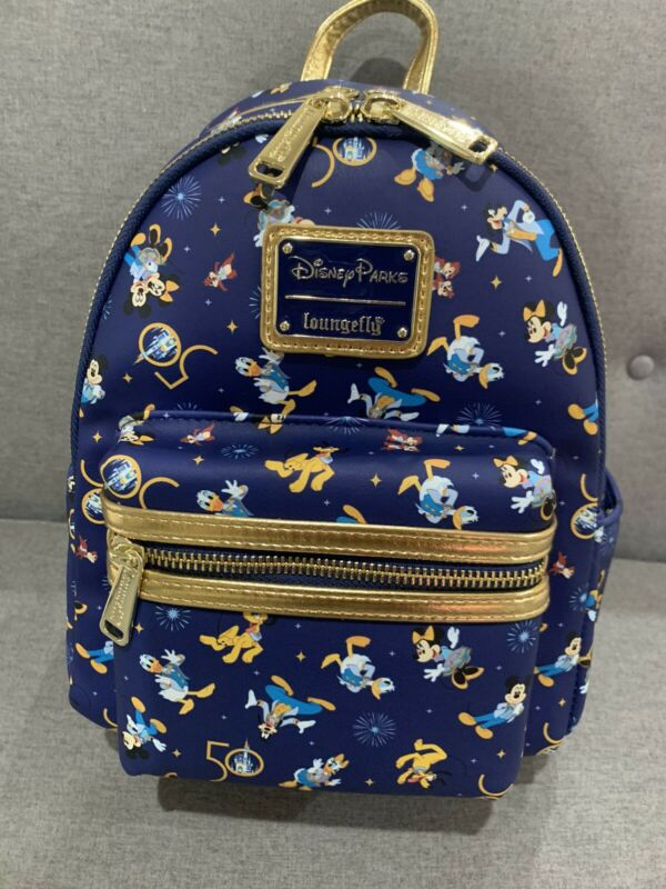 Walt Disney World 50th Anniversary Celebration Loungefly Mini Backpack