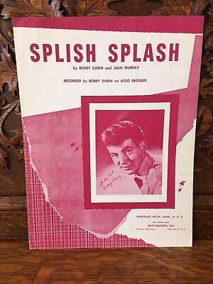 Splish Splash Bobby Darin Sheet Music