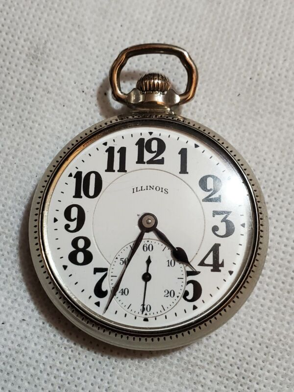 Vintage Illinois Type lll 60 Hour Bunn Special - 21J -16S -Railroad Pocket Watch