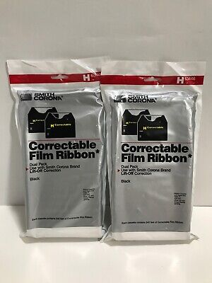 4 Pk Smith Corona H63446 Correctable Typewriter Film Ribbon Cassettes