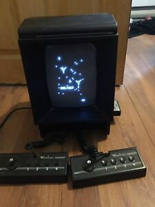 Rare Vectrex video game console and 14 games
