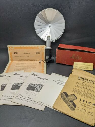 Vintage 1930s Leitz Leica Directions Part I II III Warranty + Synchronblitzer