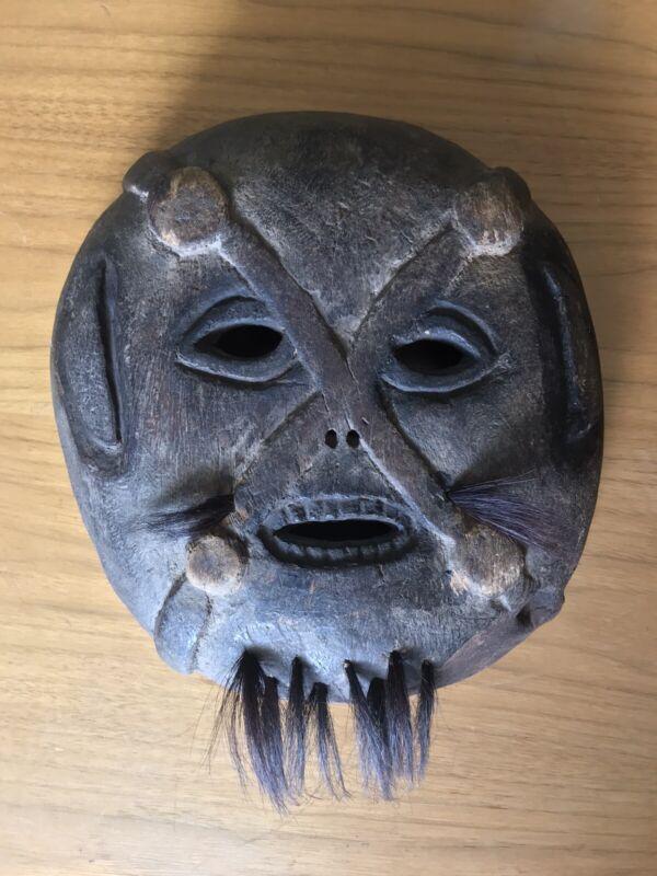 Antique Laughing Shaman Wooden Mask Tibetan Tribal Ritual Nepal