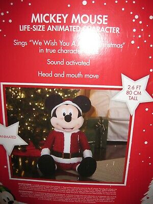NEW Life Size Gemmy Animated Singing Mickey Mouse Christmas