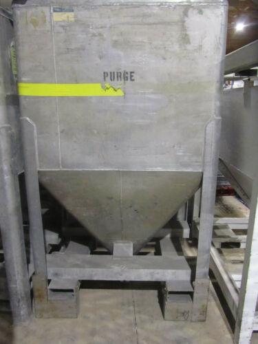 METALCRAFT TRANSTORE ALUMINUM HOPPER BIN TOTE, PORTABLE,  USED
