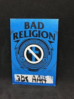 Bad Religion Battle Of The Centuries Tour 2015 Cloth Pass Greg Hetson Graffin