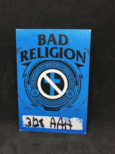 Bad Religion Battle Of The Centuries Tour 2015 Cloth Pass Greg Hetson Graffin