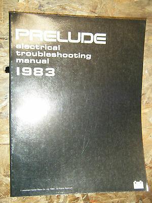 1983 HONDA PRELUDE FACTORY ELECTRICAL TROUBLESHOOTING MANUAL SERVICE REPAIR
