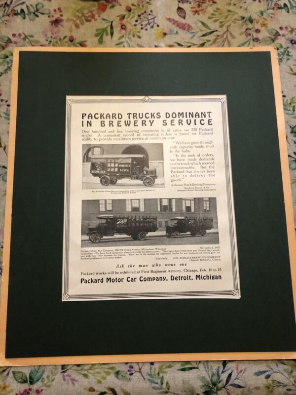1930 Magazine Print Ad Automobile Car Packard Truck Dominant In Brewery Service