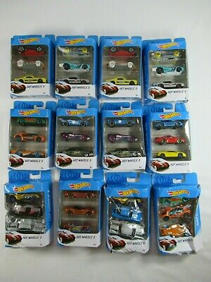 12 Hot Wheels 3 Pack Gift Sets Lot 36 Total Cars NEW DAMAGED BOX