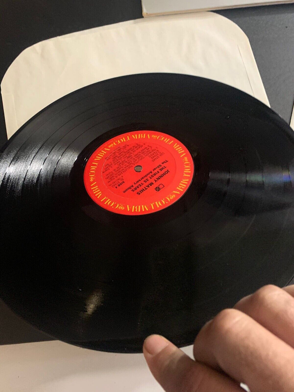 LP RECORD - JOHNNY MATHIS - THE FIRST 25 YEARS - 2 LP SET - COLUMBIA RECORDS - $9.99