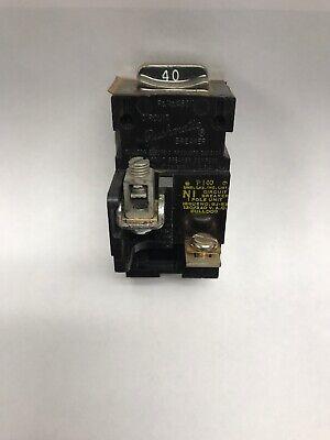 Ite Bulldog Pushmatic P140 1 Pole 40 Amp 120 Volt Circuit Breaker New