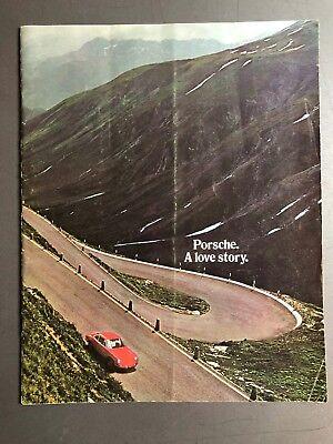 "1971 Porsche 911 ""A Love Story""  Brochure Prospekt RARE!! Awesome VG"