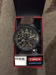 Timex expedition watch leather band brand new $115