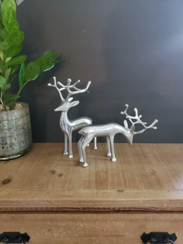 Holiday Reindeer - Metal Figurines - Set of 2