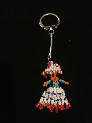 Kachina Doll Keychain Beaded Or Purse Ornament  (Beaded Keychains)