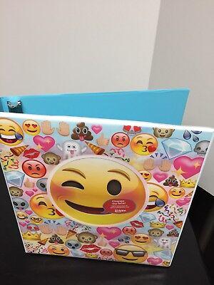 Avery Emoji Faces Binders Three Ring One Inch 1 Size Peekaview Binders New