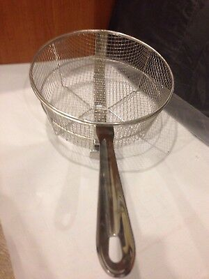 All Clad New Long Handle Fry Basket 6 Quart Heavy Gauge Stainless Steel All Clad Fry Basket