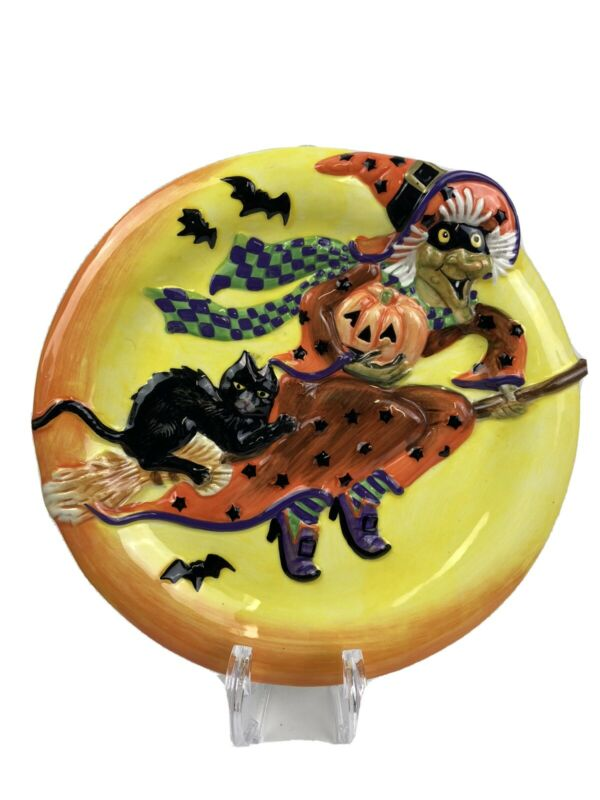 Fitz and Floyd Witch Hazel collector Halloween Plate