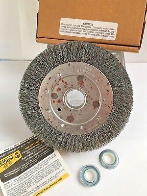 Crimped Wire Wheel Brush 6000 Rpm 6 Diameter X 1 Face