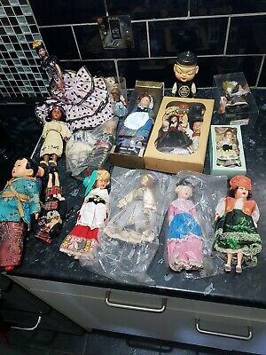 Small Vintage Dolls Job lot , 12 Photos to view