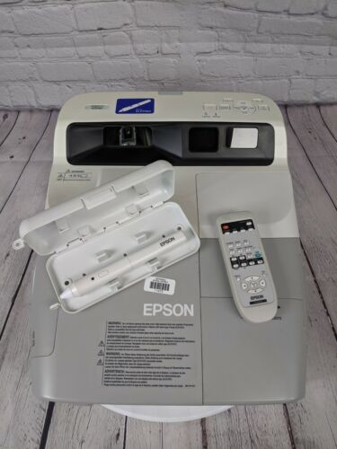 Epson 455Wi BrightLink WXGA Ultra Short-Throw Projector H440A & Pen*NO PWR CORD*