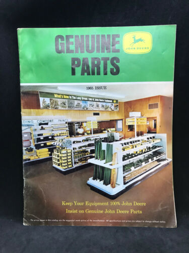 Vintage 1965 Genuine JOHN DEERE Parts Catalog