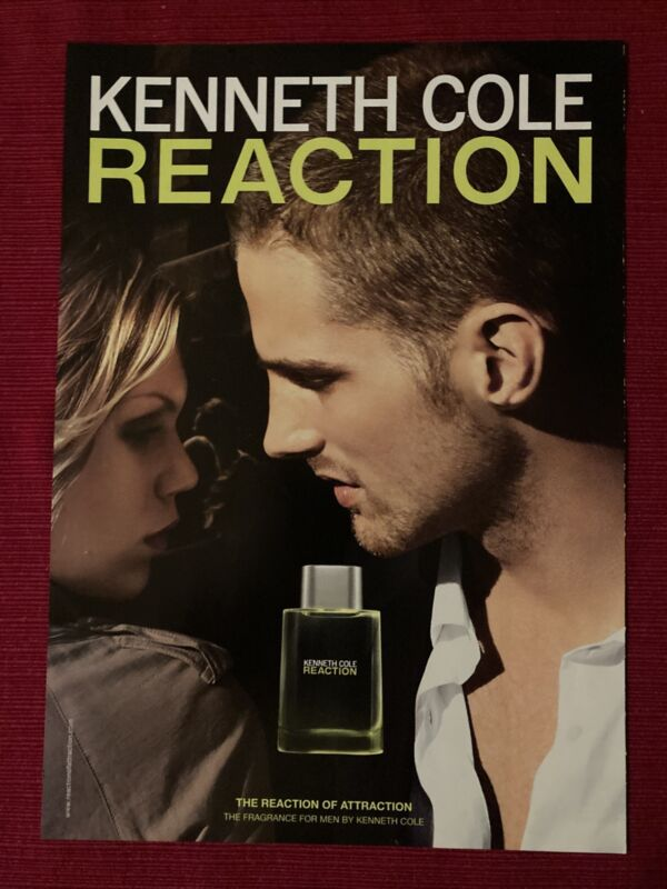 Reaction Cologne by Kenneth Cole 2008 Ad/Poster Promo Art Ad