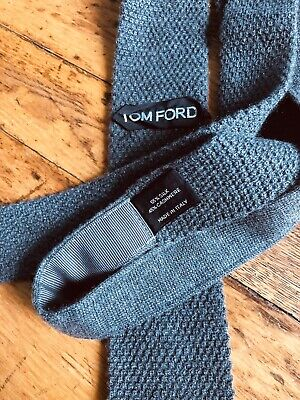 Tom Ford Gray Knit Cashmere And Silk Tie Tom Ford Ties