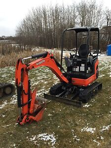 Mini excavator and track loader for hire  Excavation trenching Edmonton Edmonton Area image 2