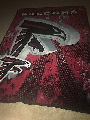 Atlanta Falcons Licensed NFL Fleece Lightweight Throw Blanket 57 X -