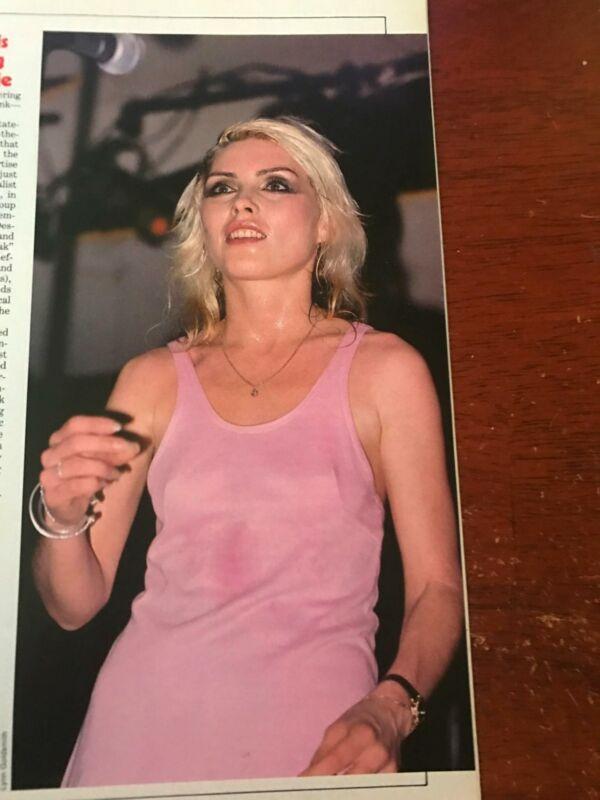 1978 VINTAGE 1PG PRINT ARTICLE/PHOTO ON SEXY DEBBIE HARRY OF BLONDIE PLATINUM
